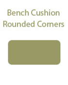 Rounded Corners Bench Cushion