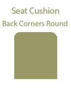 Back Corners Round Seat Cushion