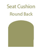 Round Back Seat Cushion