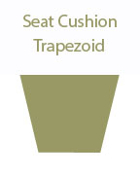 Trapazoid Seat Cushion