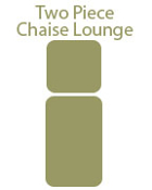Two Piece Chaise Lounge Cushion
